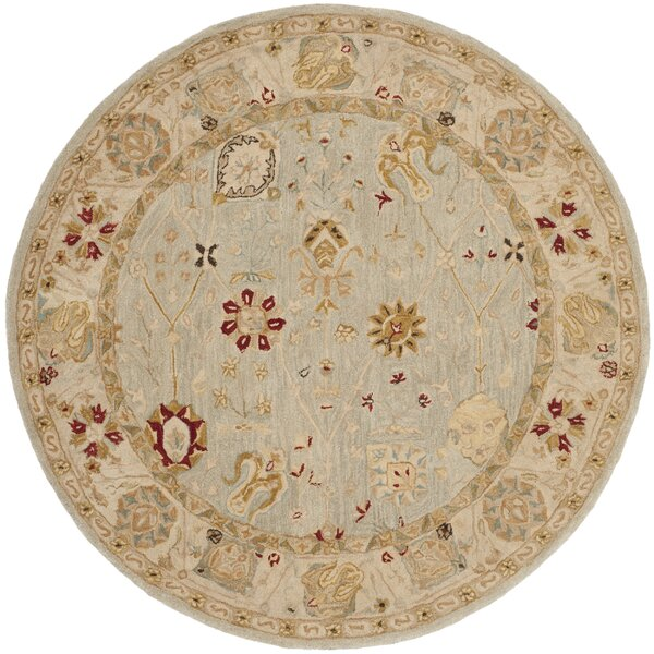 Anatolia Grey Blue/Ivory Indoor Area Rug by Safavieh