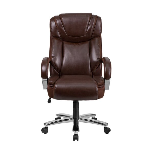 Arya High-Back Leather Executive Chair by Latitude Run
