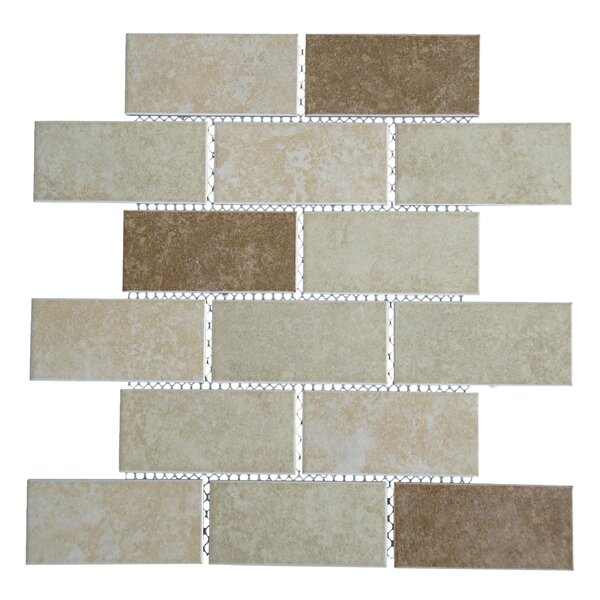 Classique 2 x 4 Porcelain Subway Tile in Beige and Ivory by Mulia Tile