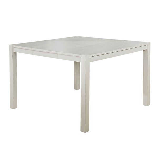 Saphira Counter Height Extendable Solid Wood Dining Table by Highland Dunes