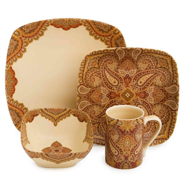 Spice Road 16 Piece Dinnerware Set by 222 Fifth