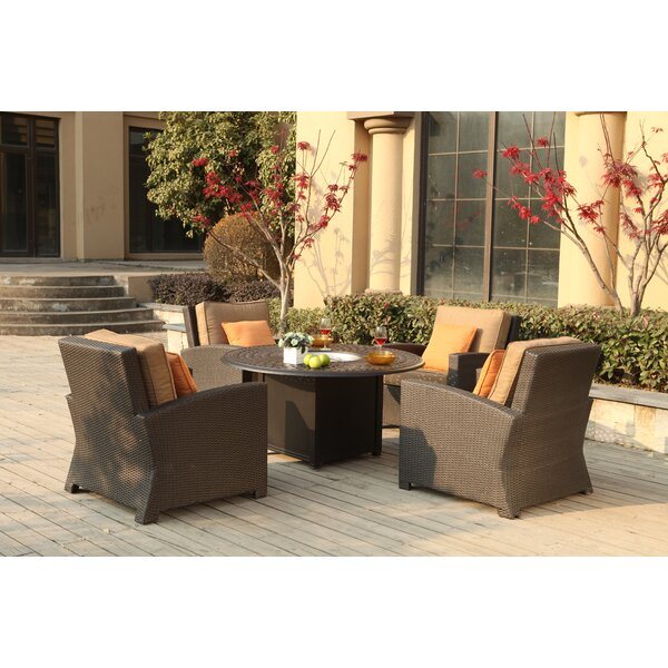 Stockholm 5 Piece Conversation Set with Cushions by Alcott Hill