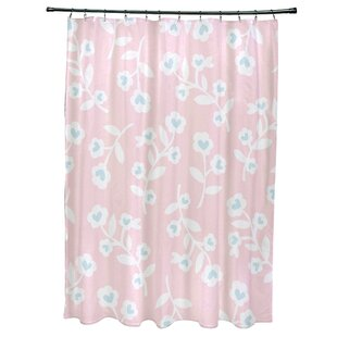 Buy clear Valentines Floral Shower Curtain ByThe Holiday Aisle