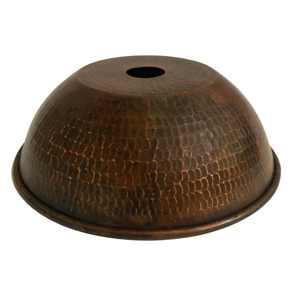 Hand Hammered Dome Pendant Light 8.5 Metal Bowl Lamp Shade by Bloomsbury Market