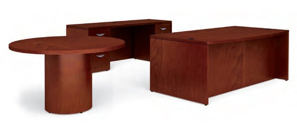 Ventnor 3-Piece Standard Desk Office Suite by Offices To Go