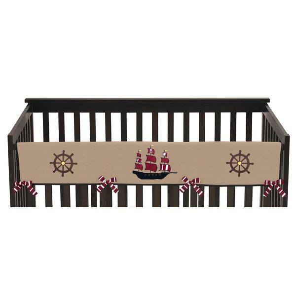 Pirate Treasure Cove Long Crib Rail Guard Cover by Sweet Jojo Designs