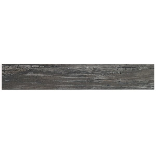 Grove 4 x 24 Porcelain Wood Look Tile in Black by Splashback Tile
