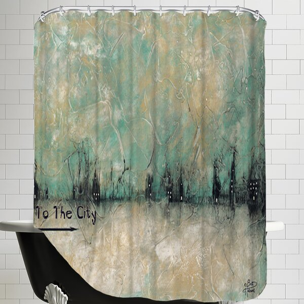 To the City Shower Curtain by East Urban Home