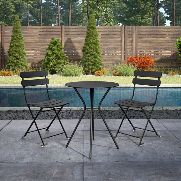 Ainsley Patio 3 Piece Bistro Set By Hashtag Home