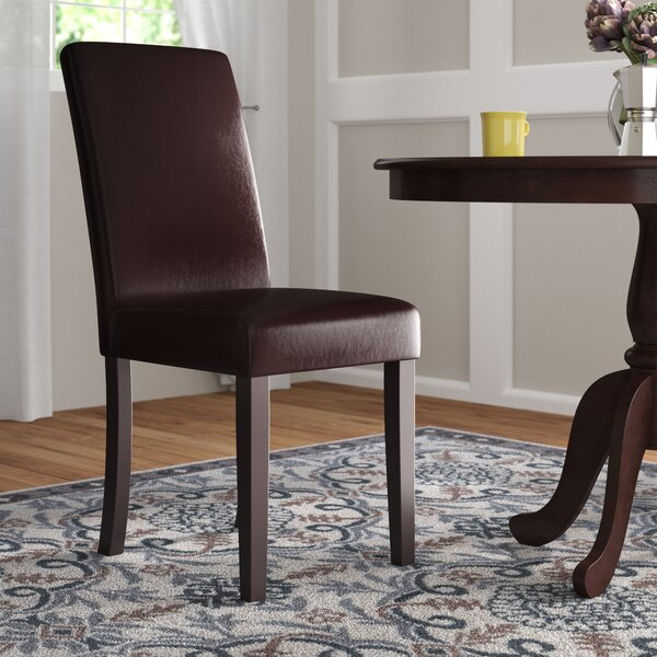 Bastian Upholstered Panel Parsons Chair (Set Of 2) By Andover Mills