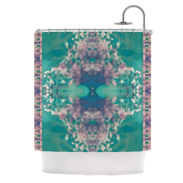 Ashby Blossom Teal Shower Curtain by KESS InHouse