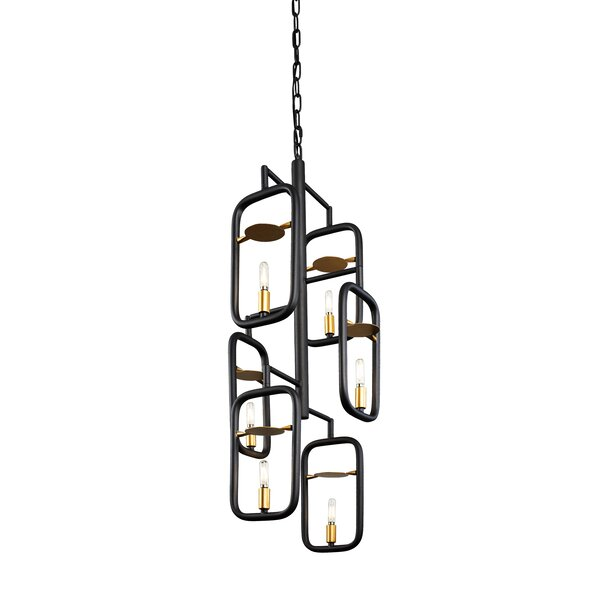 Menomonie 6 - Light Unique / Statement Rectangle / Square Chandelier by Williston Forge Williston Forge