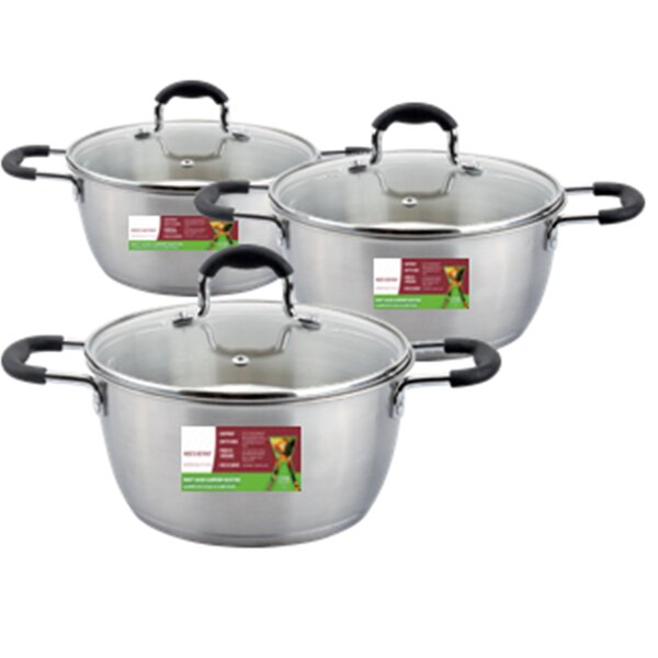 6-Piece Stainless Steel Cookware Set by Meglio