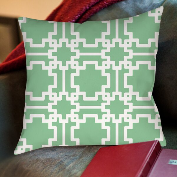Modern Geometric Printed Throw Pillow by Manual Woodworkers & Weavers