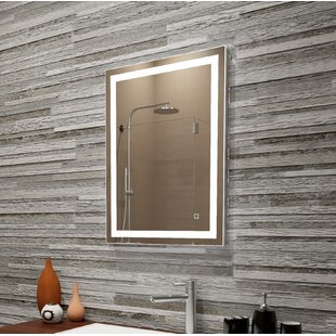 Read Reviews Bolyard Dimmable LED Lighted Bathroom/Vanity Mirror By Orren Ellis