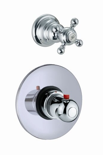 Elizabeth Built-In Thermostatic Faucet with One Volume Control Handle by Fima by Nameeks