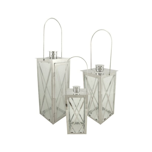 Pillar 3 Piece Stainless Steel Lantern Set by Red Barrel Studio