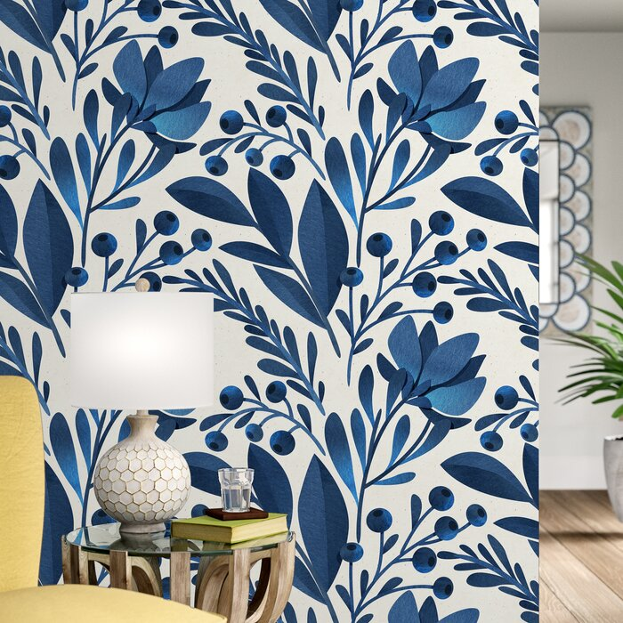 Keper Removable Flowers Leaves 10 L X 25 W Peel And Stick Wallpaper Roll