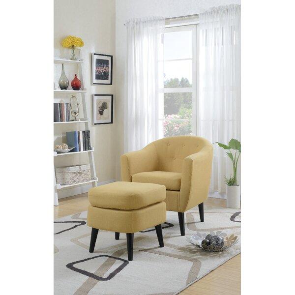 Fosbury Barrel Chair and Ottoman by Ivy Bronx