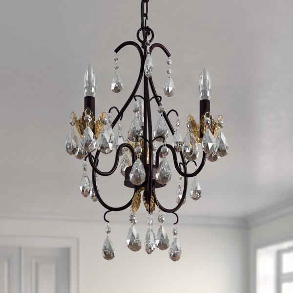 Tindell 3 - Light Candle Style Classic / Traditional Chandelier By Astoria Grand