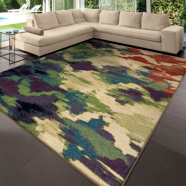 Splash of Color Beige/Purple Area Rug by The Conestoga Trading Co.