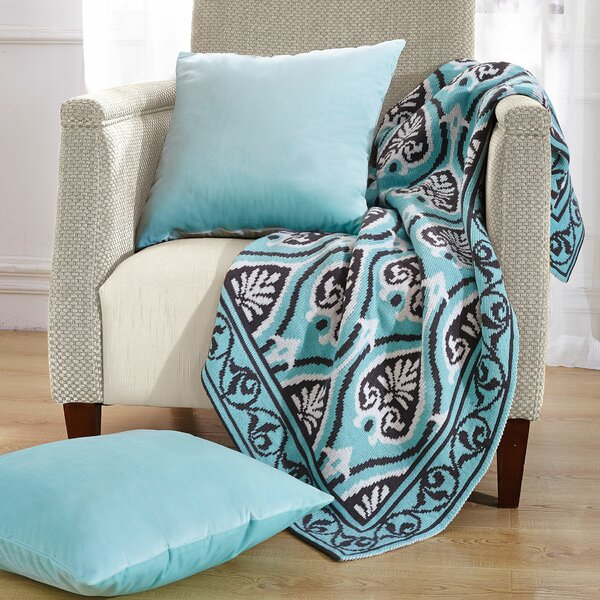 Neapoli Knitted EZ Matching Throw Blanket and Pillow Sham Set by BOON Throw & Blanket