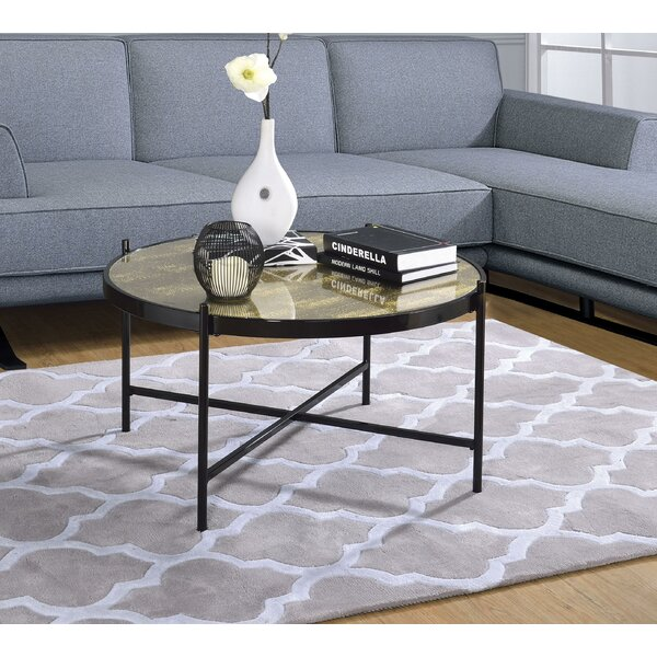 Wrought Studio Glass Top Coffee Tables