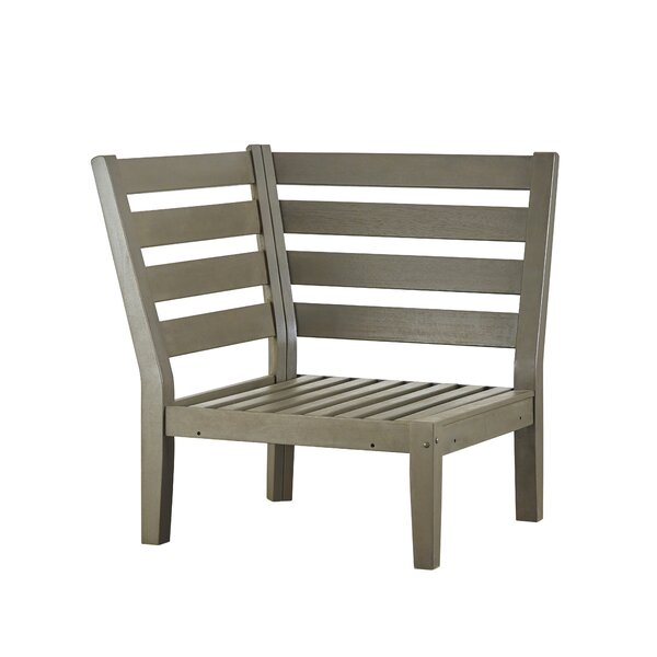 Brook Hollow Corner Chair with Cushion by Three Posts