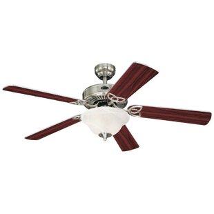 Bargain 52 Zimmerman 5 Reversible Blade Ceiling Fan By Latitude Run