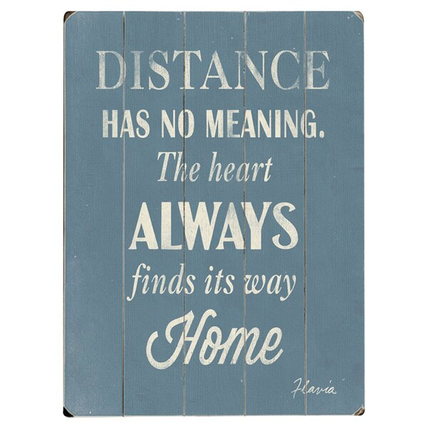 Heart Finds Its Way by Flavia Weedn Textual Art Multi-Piece Image on Wood by Artehouse LLC
