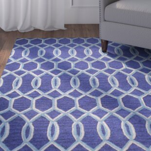 Savings Boomer Hand-Tufted Navy Area Rug By Alcott Hill