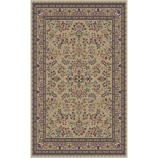 Read Reviews Edmont Jewel Sarouk Ivory Area Rug By World Menagerie
