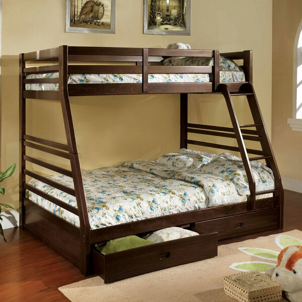 Wasola Twin Over Full Bunk Bed with Drawers by Harriet Bee