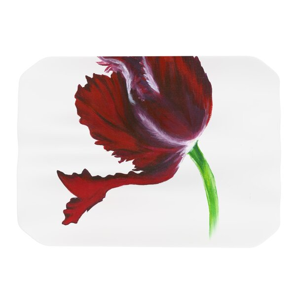 Dark Purple Tulip Placemat by KESS InHouse