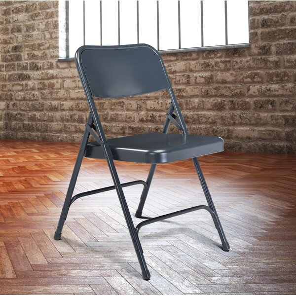 200 Series Metal Folding Chair (Set of 4) by National Public Seating