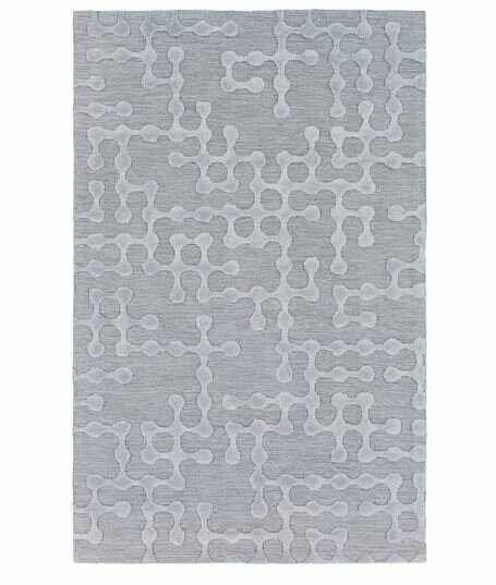 Serpentis Hand-Hooked Light Gray/Sage Area Rug by Wrought Studio