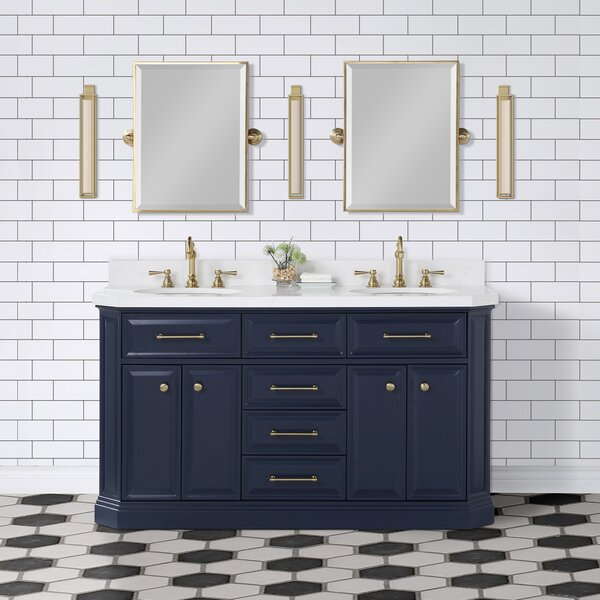 Palace 60 Double Bathroom Vanity Set with Mirror