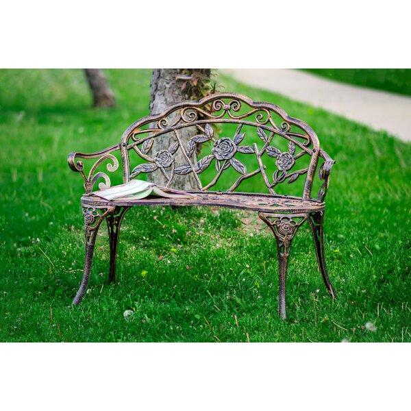 Shatley Rose Metal Garden Bench by August Grove
