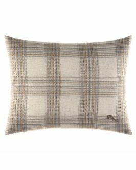 Raffia Palms Plaid Woven Lumbar Pillow by Tommy Bahama Bedding by Tommy Bahama Home