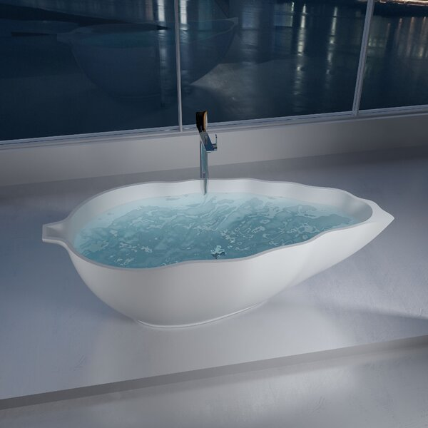 76 x 76 Freestanding Soaking Bathtub by InFurniture