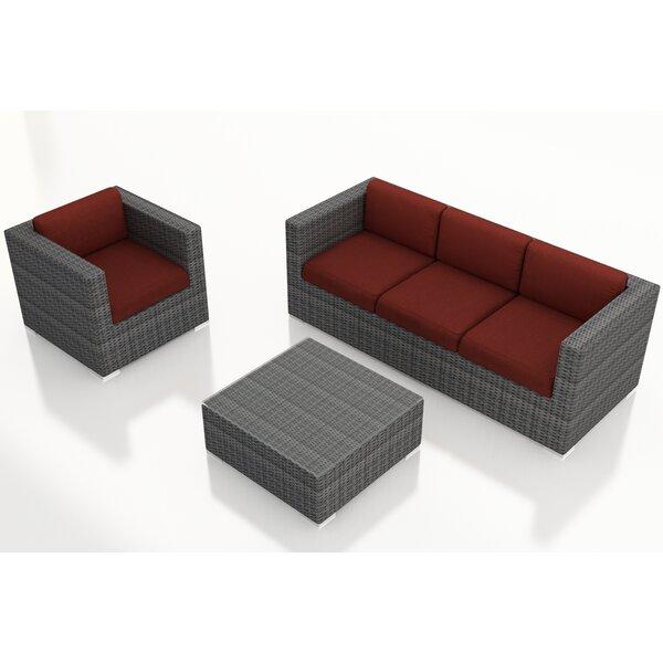 Hobbs 3 Piece Sunbrella Sofa Set with Cushions
