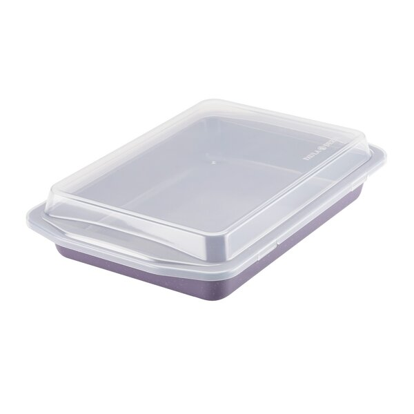 Non-Stick Covered Rectangle Cake Pan by Paula Deen