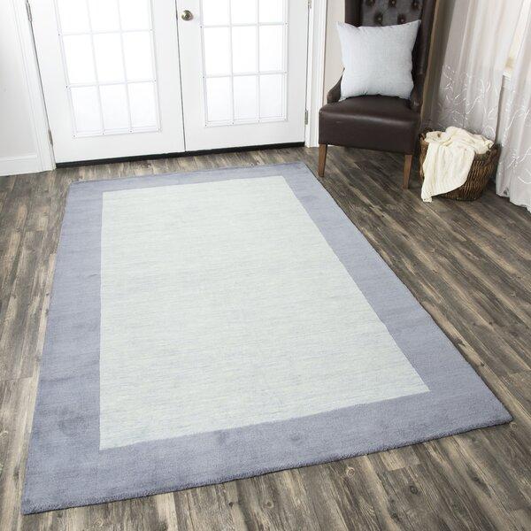 Abigail Rug Hand-Tufted Wool Light Blue Area Rug by Birch Lane™