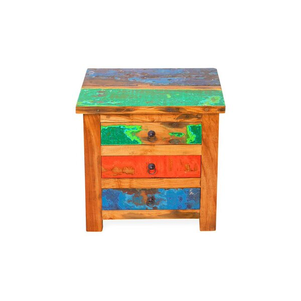 First Mate Reclaimed Wood Side Table by EcoChic Lifestyles