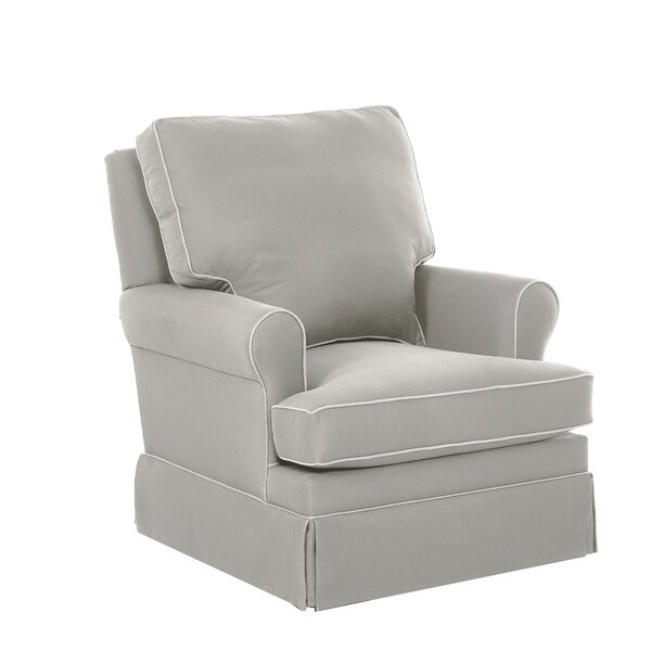 Gwinnett Swivel Glider with Contrasting Welt by Wayfair Custom Upholstery™