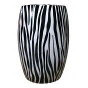 Zebra Ceramic Stool by BIDKhome