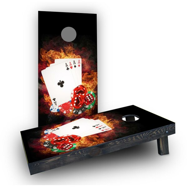 4 Card Stud Poker Light Weight Cornhole Game Set by Custom Cornhole Boards