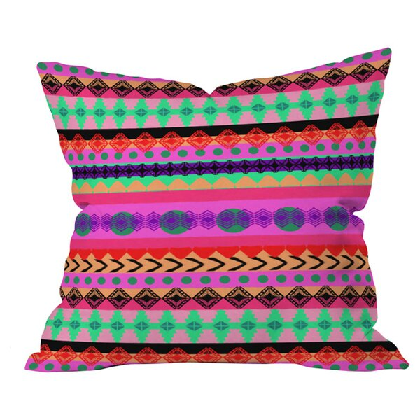 Tribal Stripe Outdoor Throw Pillow by Deny Designs