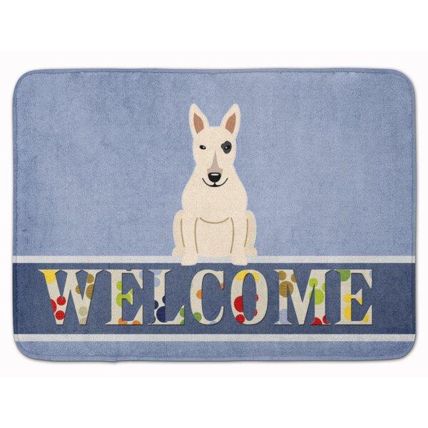 Bull Terrier Welcome Memory Foam Bath Rug