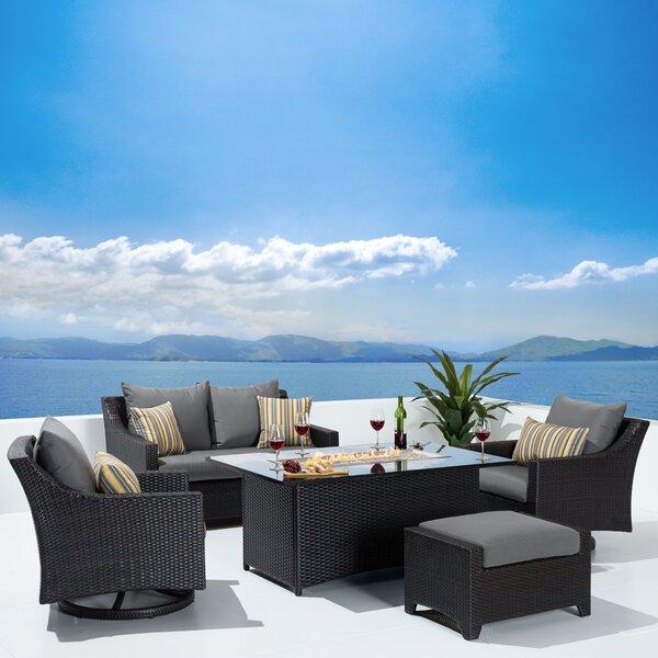 Bentlee 5 Piece Rattan Sofa Seating Group with Cushions by Brayden Studio